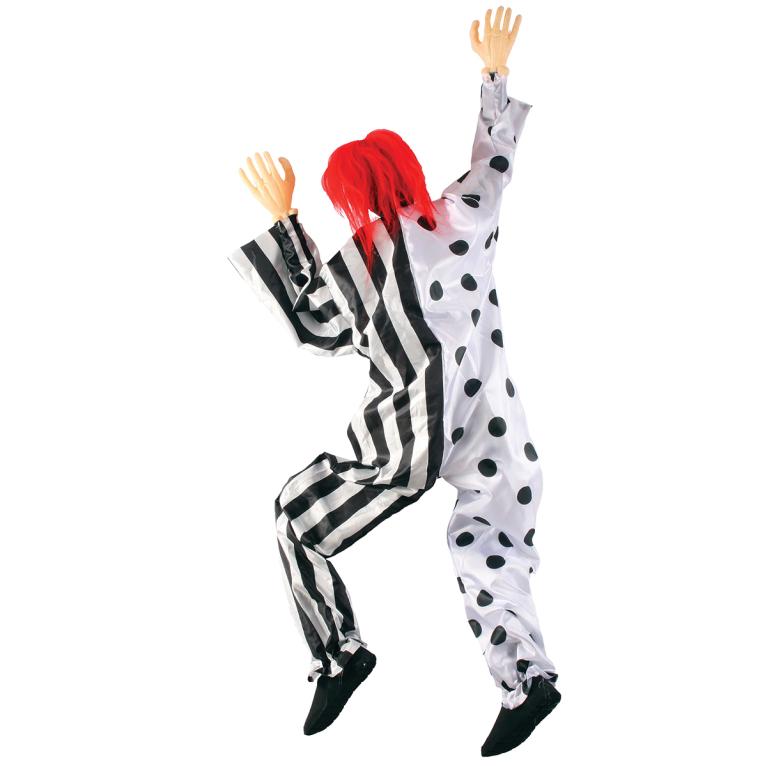 Prop, klättrande clown svart/vit
