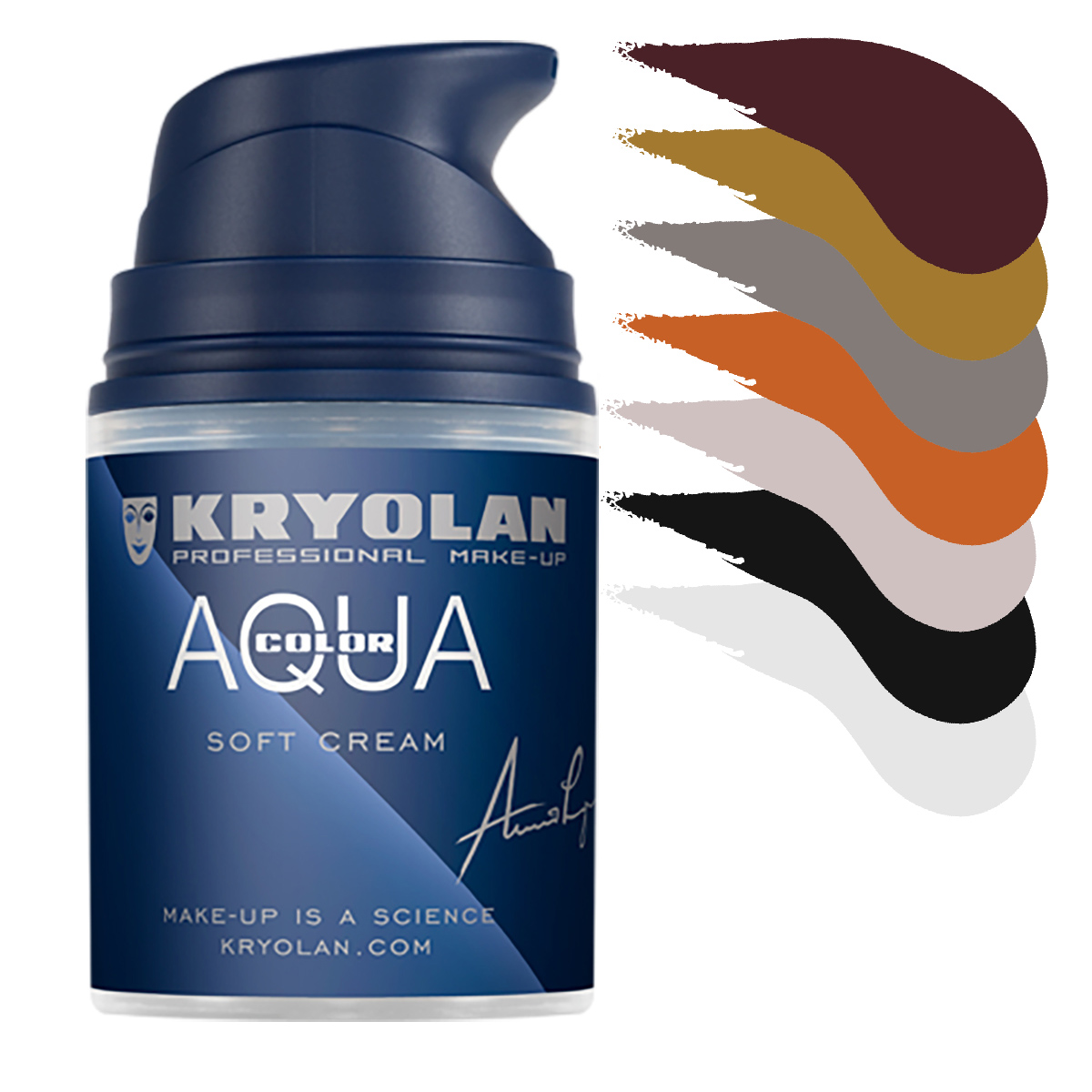Aquacolor cream 50ml, färger