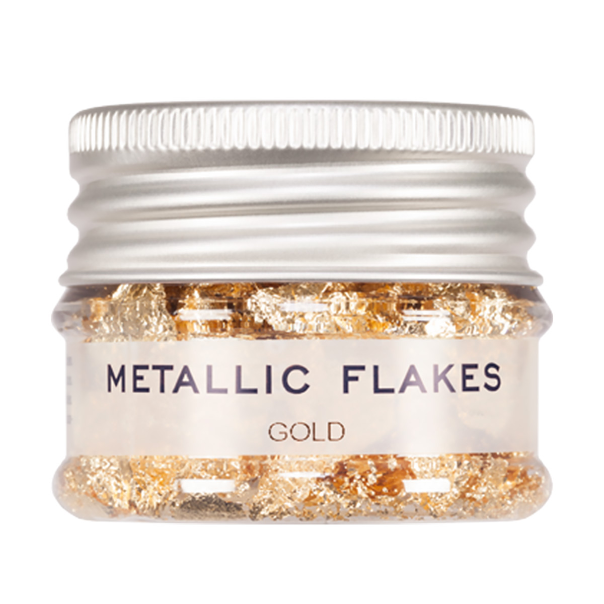 Metall flakes, guld