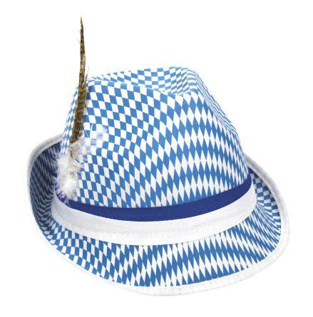 Tyrolerhatt, blå/vit