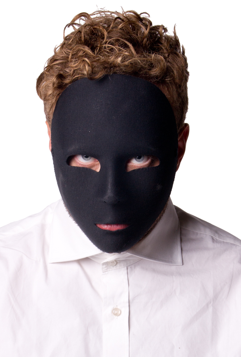 Ansiktsmask  svart