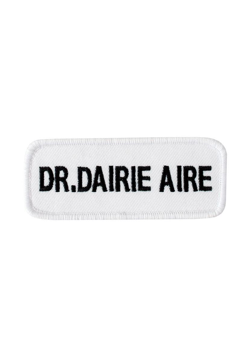 Namnskylt Dr. Dairie Aire