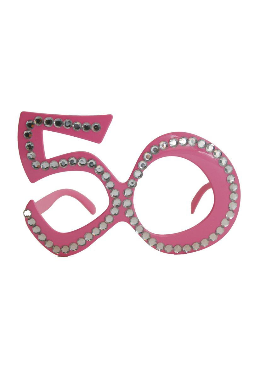 Glasögon 50, rosa