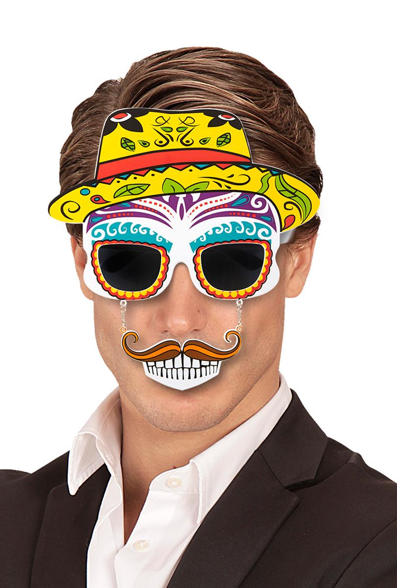 Day of the dead, glasögon med hatt