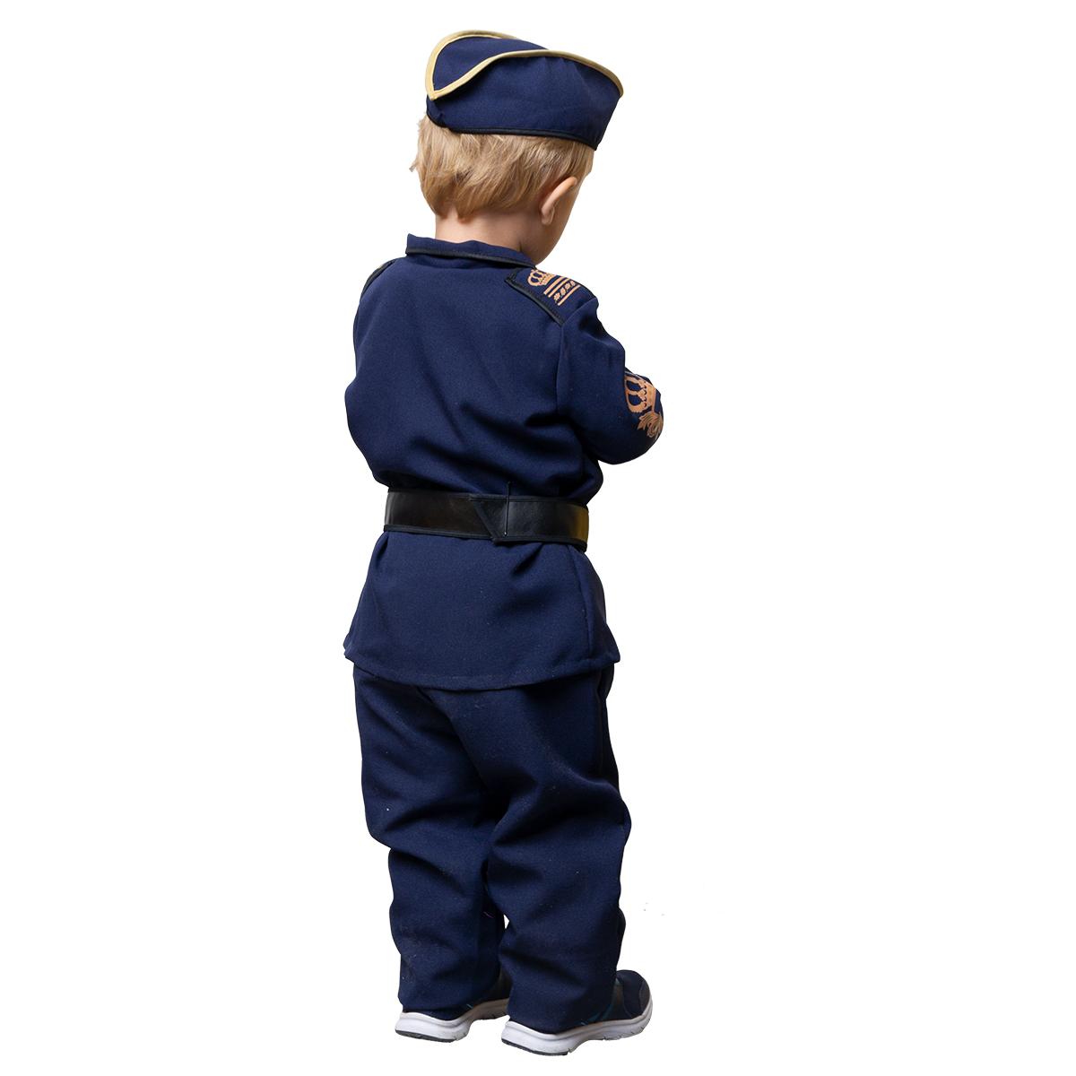 uniform barn polis, byxor, skjorta, bälte, polismössa