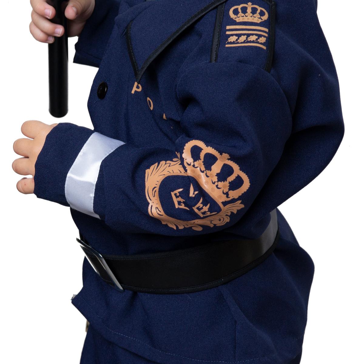 Dräkt polis för barn med tryck