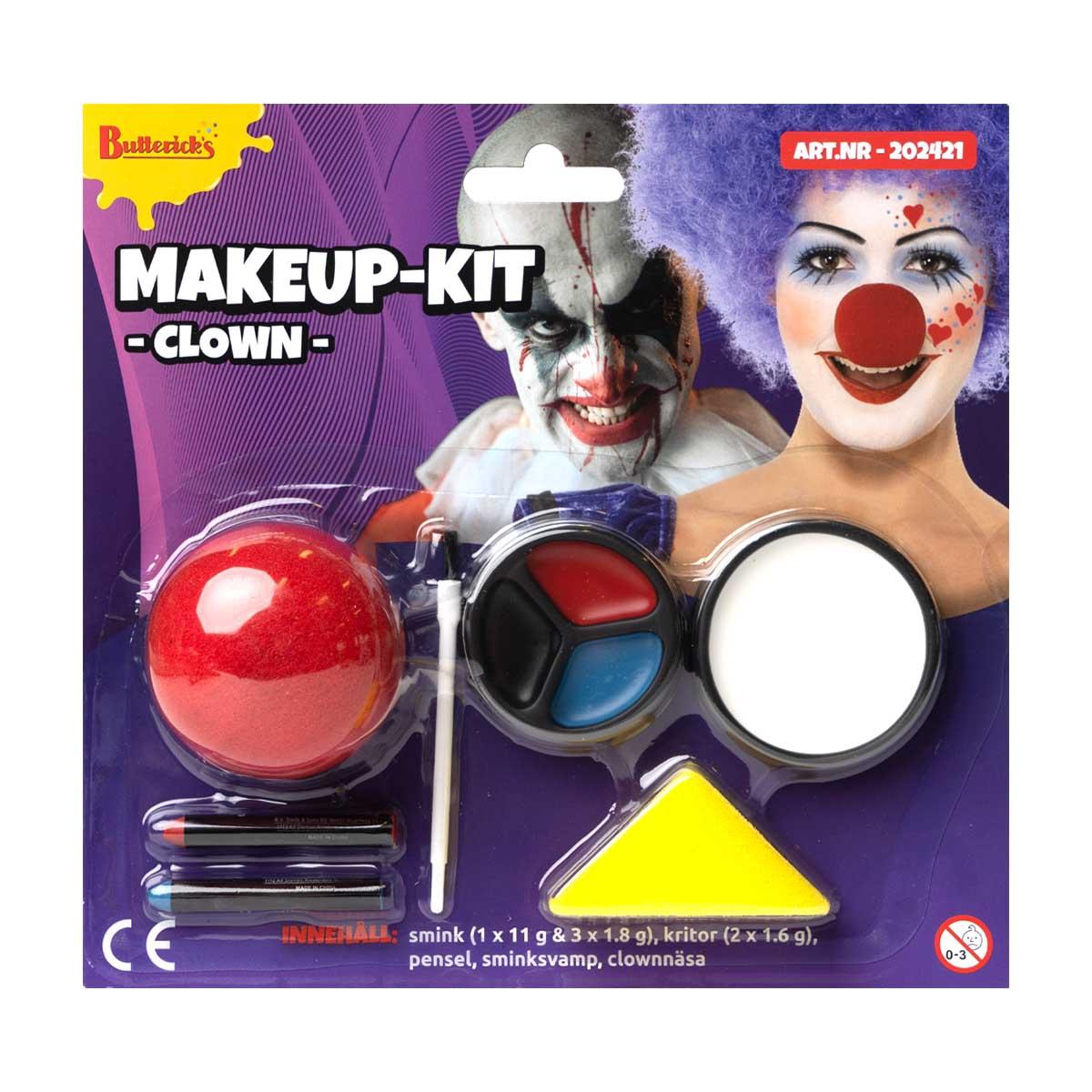 Sminkset, clown