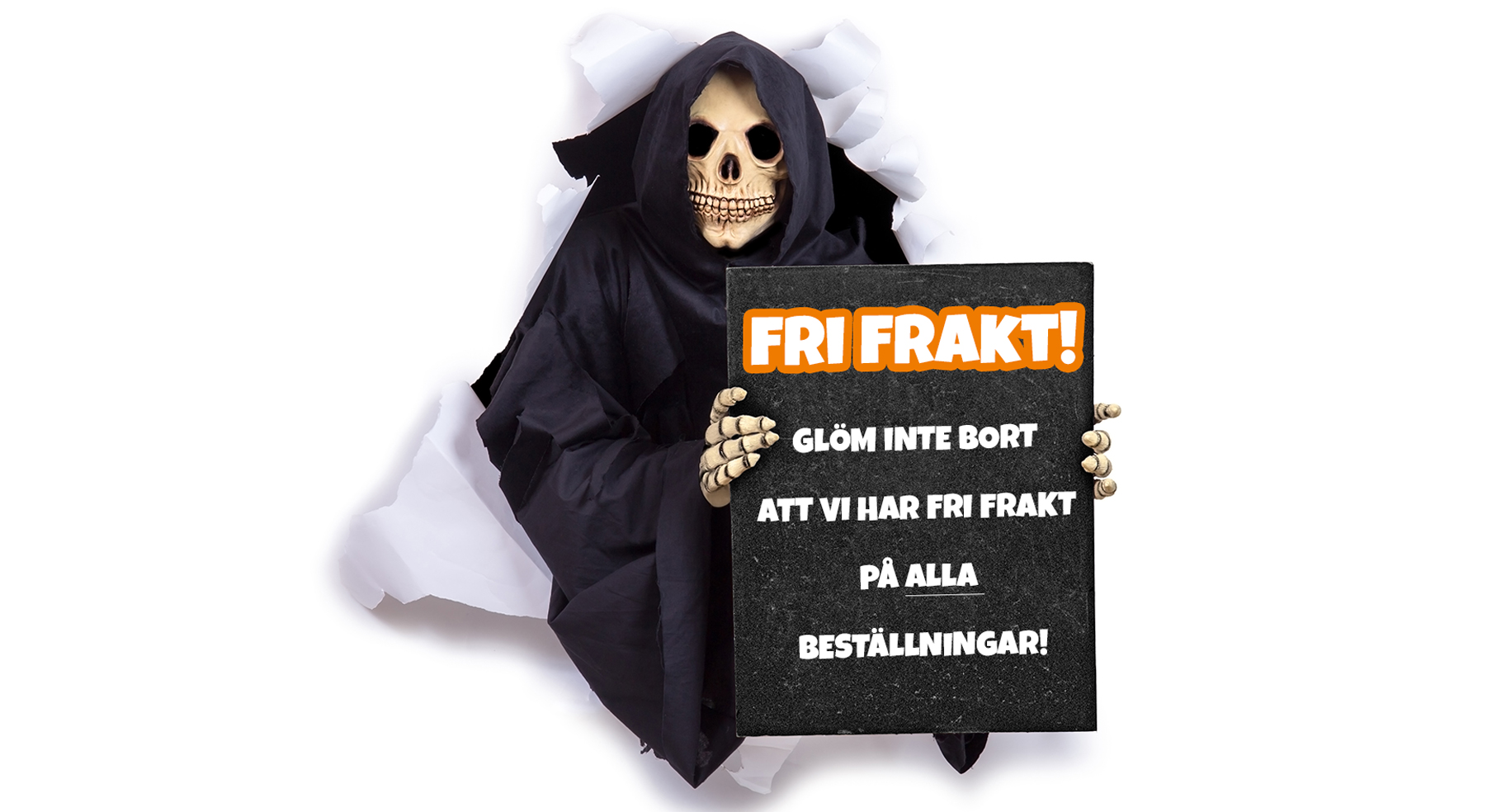 Fri frakt på hela halloweensortimentet