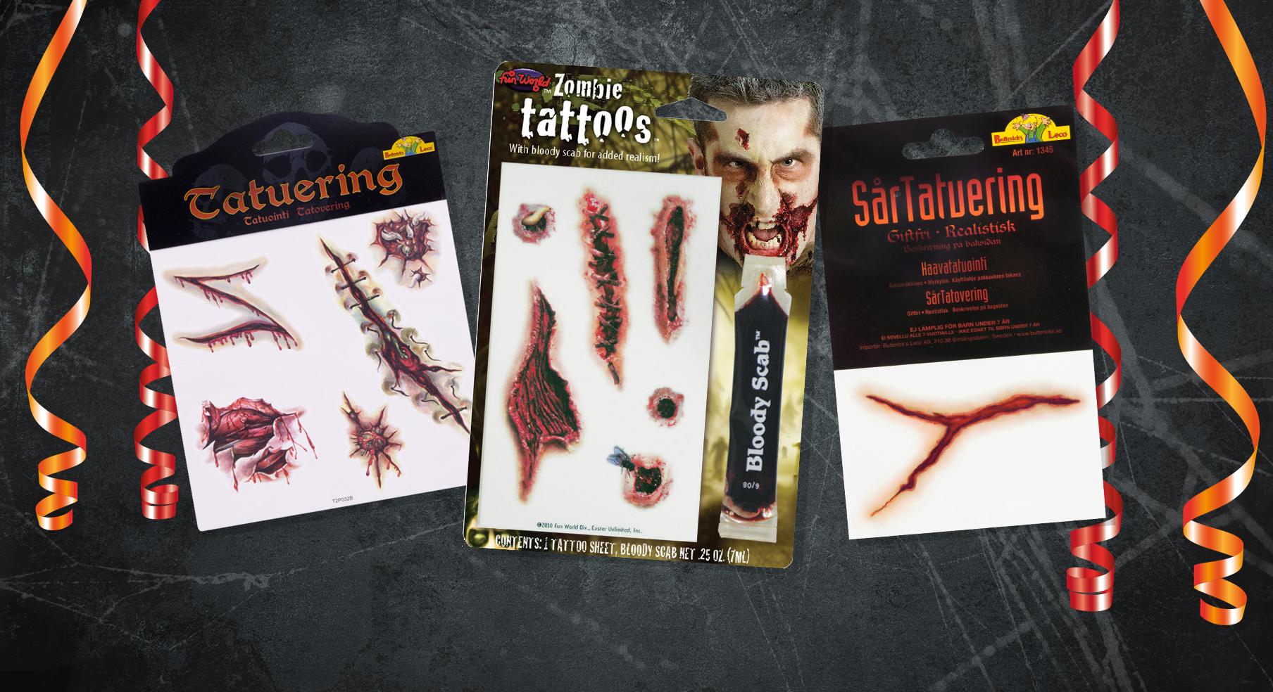 Tatueringar till Halloween