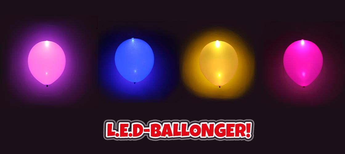 Lysande ballonger till schlagerfesten