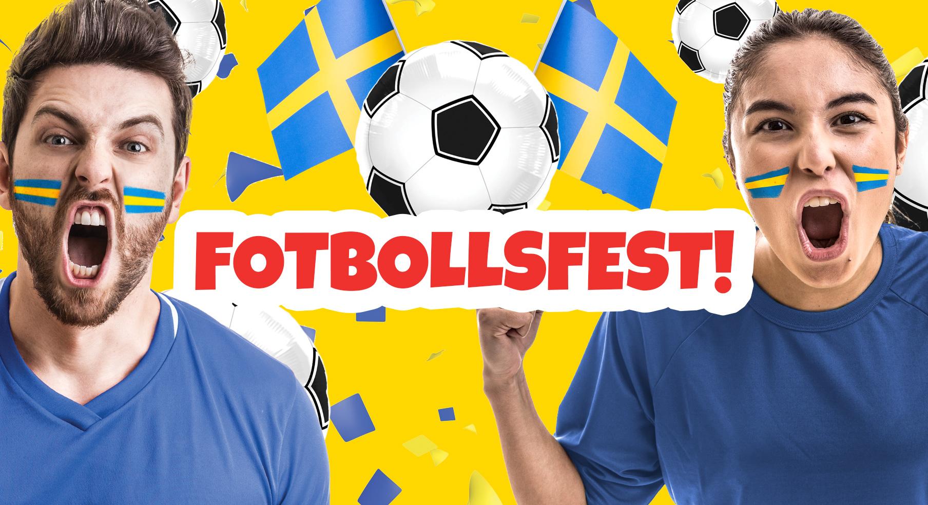 Det fullkomligt osar Fotbollsfest på Butterick's just nu