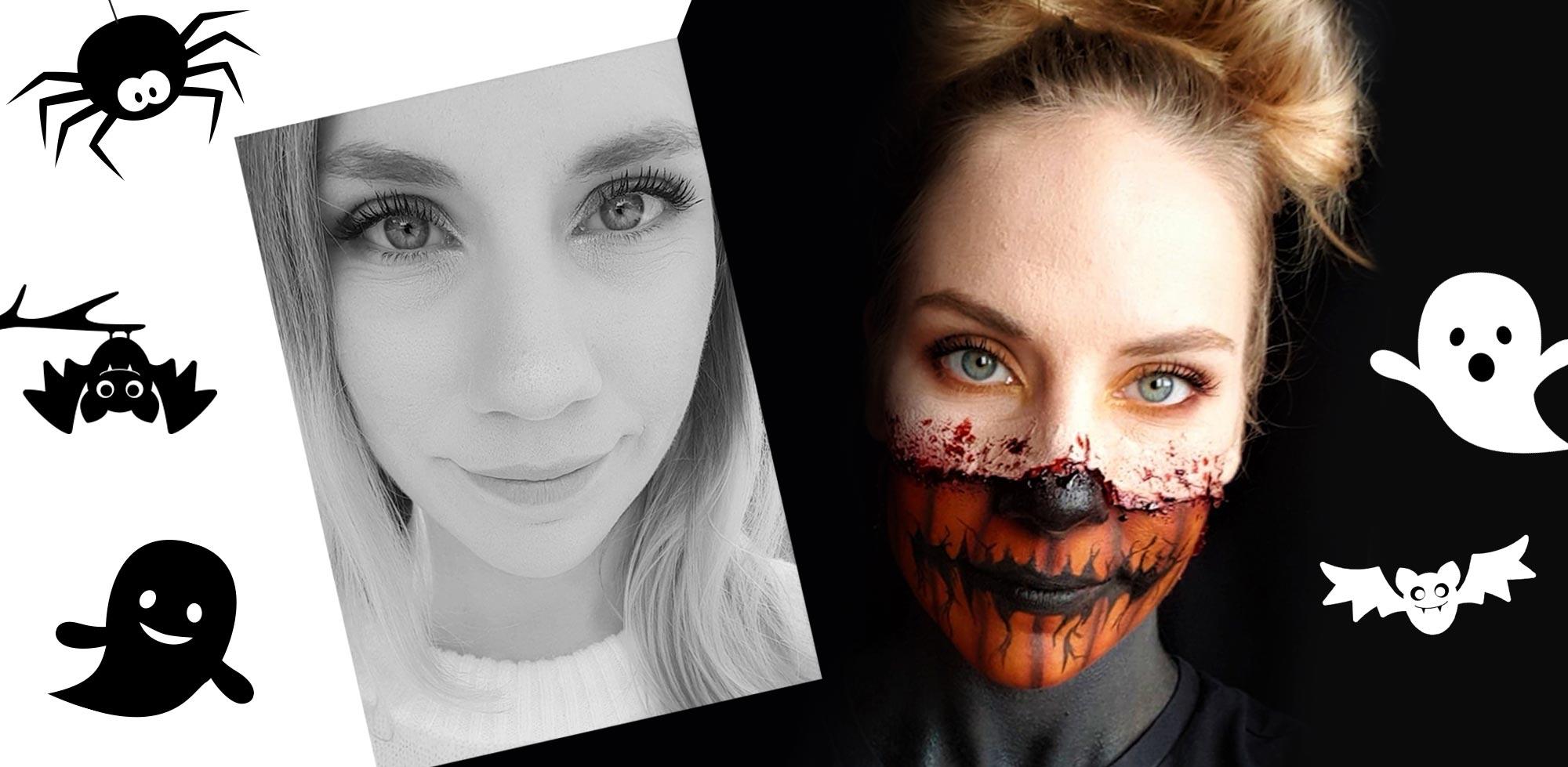 Makeup till halloween - följ Butterick's på instagram för tips