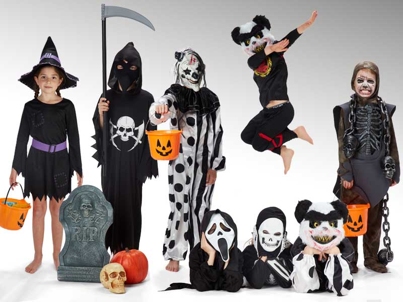 Barndräkter till halloween!